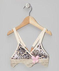 Take a look at this Light Tan Leopard Sports Bra - Girls by riehle dancewear on #zulily today!