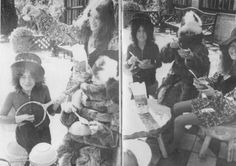 Marc Bolan, June Child and Alice Ormsby-Gore having fun.