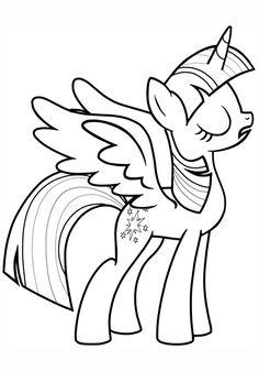 Horse Coloring Pages, Cute Coloring Pages, Coloring Sheets, Coloring Books, Free Coloring, My Little Pony Twilight, My Little Pony Coloring, My Little Pony Drawing, Little Poni