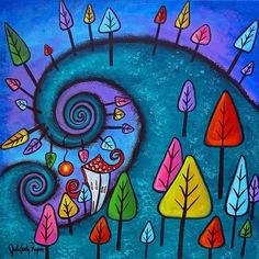 Whimsical+Paintings | Art: The Fanciful Forest by Artist Juli Cady Ryan