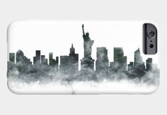New York Skyline Phone Case#newyork #phone7Case #skyline #phonecase #artprint #newyorkart #statueofliberty #galaxys6case #print #wallart #newyorkcityscape #electronicsCases #city #watercolor #prints #Cityscape #newyorkposter #gift #skylineart #usa #travel #contemporary #blackandwhite #case #phone