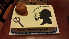 My neighbor made a spectacular Sherlock Holmes birthday cake for me!