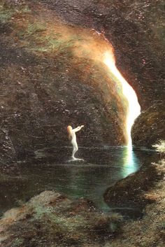 """the-esoteric-arts: """"Erleuchtung by Karl Wilhelm Diefenbach, """" Esoteric Art, The Dark Tower, Legends And Myths, Witch Art, Art Graphique, Street Art Graffiti, Old Master, Pretty Pictures, Pretty Pics"""