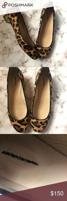 J Crew Leopard Pony Hair Flats Genuine pony hair (calf hair) flats. Sample sale purchase. Worn twice in very good condition. Only a few stuffs at bottom. J. Crew Shoes Flats & Loafers