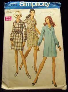 miss petites and misses shirtdress simplicity 8294 1960s sewing patterns retro clothing vintage clothing sewing mad men size 12 bust 34