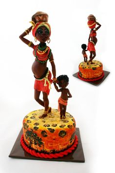 Africa!!! No tutorial. I just had to share this stunning, beautiful cake!!