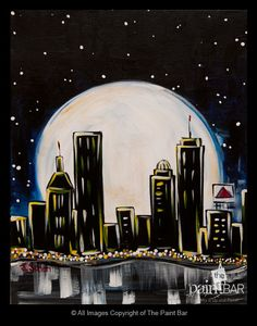 Moonlit #Boston Painting - Jackie Schon, The Paint Bar