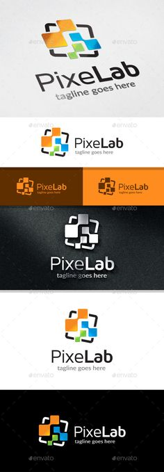 Pixel Lab Logo — Vector EPS #creative studio #web • Available here → https://graphicriver.net/item/pixel-lab-logo/11934602?ref=pxcr