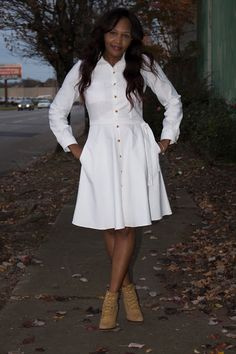 White Denim Classic ! - Simplicity 8014 - Shun Davis did an outstanding job on this dress. I am going to copy it, just longer.