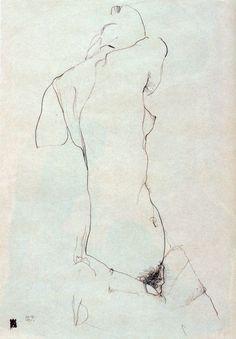 Nude, 1911 by Egon Schiele - ArtStack