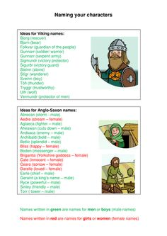 Concise lists of examples of Viking and Anglo-Saxon names, colour-coded according to gender. Primary History, Teaching History, Teaching Resources, Viking Names, Anglo Saxon, How To Train Your Dragon, Vikings, Homeschool, Coding
