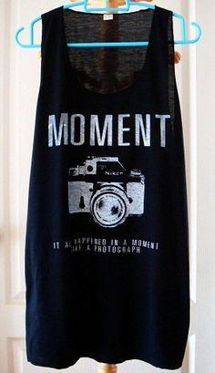 Art Moment Nikon indy vintage camera new sexy tank top t-shirt vest men women size S, M, L, XL, xxL 2xL plus size