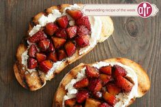 Click here for this delicious Strawberry Goat Cheese Bruschetta recipe.