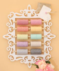 Great way to organize Bakers Twine...too cute!