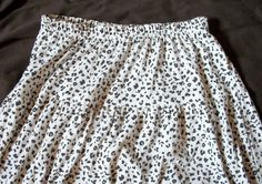 Vintage knit skirt - black-and-white leopard print. $7.00, via Etsy.