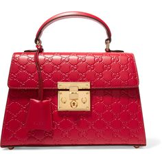 Gucci Padlock small embossed leather tote ($2,290) ❤ liked on Polyvore featuring bags, handbags, tote bags, gucci, red, red leather handbags, gucci tote, structured leather tote, leather zip tote and handbags totes