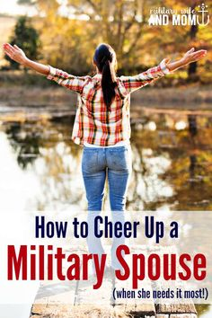 Encouraging a fellow military spouse is easier than you might think! Love these ideas!