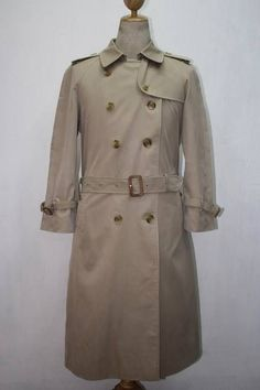 020459712f73 Details about Womens BURBERRY London Belted Trench Over Coat Beige Size 10  Petite