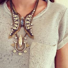Aimee Song :: Song of Style // Lionette necklaces Amber Jewelry, Statement Jewelry, Chunky Jewelry, What Should I Wear, What To Wear, Song Of Style, My Style, Style Blog, Boho Style