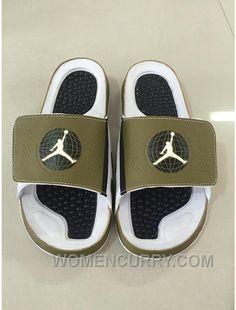 7bb0208a58ee Mens Jordan Hydro 9 Slide Sandals Militia Green White Blck Christmas Deals  Wc6QMD