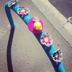 My duckie yarnbomb for @yarncorner's Spring Fling festival in North Melbourne.