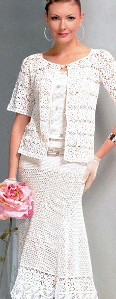 Ideas para el hogar: Traje blanco en crochet