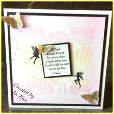 Stencil and stamps from Claritystamp....