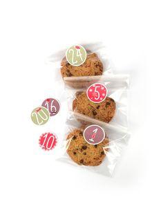 Sachets de l'Avent avec stickers #Idées #DIY #cookies