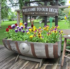 Pansies on the deck.