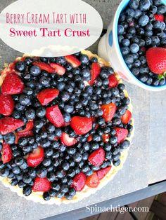 Berry Cream Tart by @Angela Roberts-Spinach Tiger yummy!