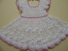 Vestido de Abanicos en crochet para niña | PatronesMil