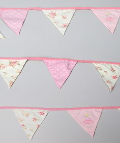 Look at this #zulilyfind! Pink Ballerina Bunting #zulilyfinds