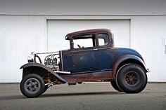 Historic 1930 Ford Model A Gasser Helped Establish Drag Racing in New England - Hot Rod Rat Rod Trucks, Rat Rods, Rat Rod Cars, Diesel Trucks, Big Trucks, Dodge Trucks, Semi Trucks, Hot Rod Autos, Car Man Cave