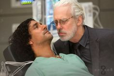 Naveen Andrews and Terrence Mann in Sense8