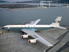 Varig Boeing 707-441 PP-VJA, at Seattle, prior to delivery in 1960.