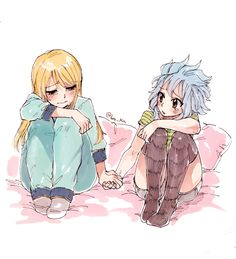 """sketchy ✖ flavor """"Don't be sad Lucy-chan, you'll meet them again, your bond is strong!"""""""