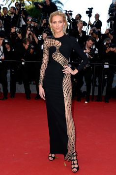 Anja Rubik in Chopard jewelry. See all the celebrities at the Cannes Film Festival.