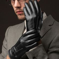 Fashion-Men-039-s-Winter-Leather-Motorcycle-Full-Finger-Touch-Screen-Warm-Gloves-Lot