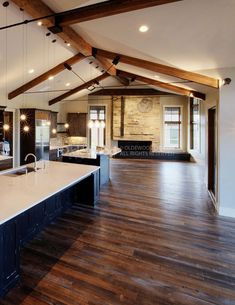 Gray walls with black baseboards will be my next project for Tobacco pine flooring