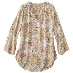 Pure Energy Women's Plus-Size 3/4- Sleeve Top - Assorted Prints