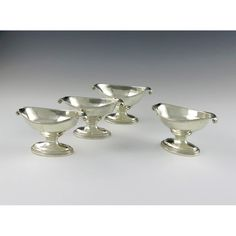 A set of four george iii silver salt cellars
