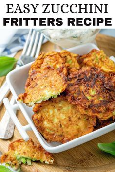 This delicious zucchini fritters recipe is unbelievably easy to make, low carb, and they are the perfect way to sneak in some extra veggies! Perfect as a side dish, light lunch or simple snack, these crispy fritters are a great way to use up leftover zucchini. Diet Recipes, Vegetarian Recipes, Cooking Recipes, Healthy Recipes, Recipies, Ketogenic Recipes, Healthy Meals, Healthy Carbs, Diabetic Recipes