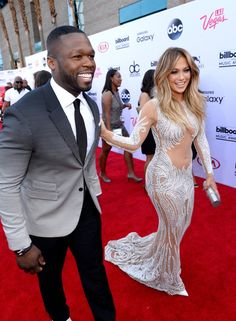 Pin for Later: The Best Pictures From the Billboard Music Awards 50 Cent and Jennifer Lopez