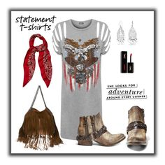"""""""Statement t-shirts"""" by susans-sg ❤ liked on Polyvore featuring WearAll, Steve Madden, STELLA McCARTNEY, Kate Spade, Bling Jewelry, Yves Saint Laurent and statementtshirts"""