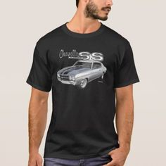 1970 Chevrolet Chevelle SS Muscle Car T-Shirt - tap, personalize, buy right now! Rude T Shirts, Team T Shirts, Monogram T Shirts, Chevrolet Chevelle, Tshirt Colors, Shirt Style, Fitness Models, Shirt Designs, T Shirts For Women
