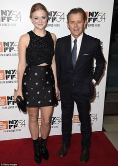Loving dad: Over the weekend, Mikhail Baryshnikov, 68, stepped out to support daughter Anna, 24, at the New York premiere of her film, Manchester By The Sea