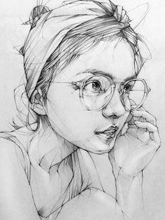 Pencil Portrait Drawing, Portrait Sketches, Pencil Art Drawings, Portrait Art, Painting & Drawing, Face Pencil Drawing, 2b Pencil, Beautiful Pencil Drawings, Art Drawings Sketches Simple