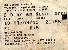 """Cinema: """"2 Dias em Nova Iorque"""" (2 Days in New York) @ UCI, Lisboa a 7 de Setembro de 2012."""