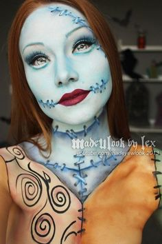 Epic Sally makeup! Please share the fun.   Image courtesy of MadeULook by Lex Check out her YouTube channel for tutorials: www.youtube.com/madeyewlook