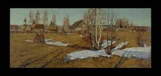 Stozharov, Vladimir Fedorovich  1926 - 1973 Calm Evening Oil on Canvas 60 x 140cm 1955 - See more at: http://www.russianartdealer.com/galleries/russian-art#sthash.XxmMkGrW.dpuf